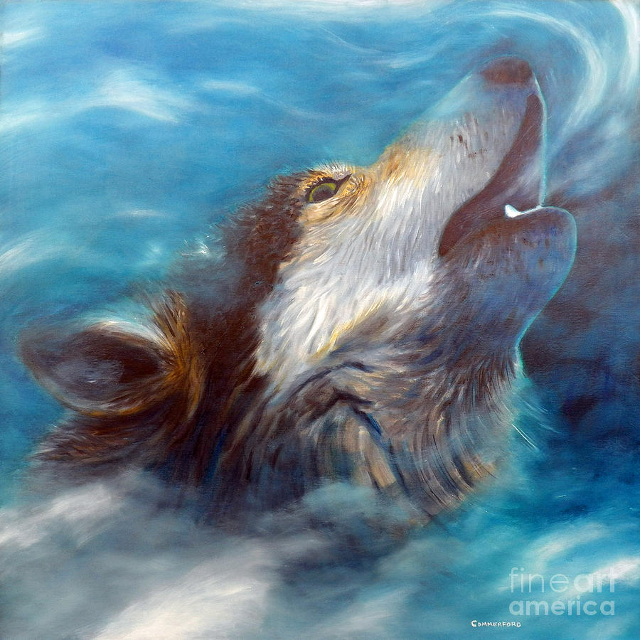 Spirit Of The Wolf Painting  - Spirit Of The Wolf Fine Art Print