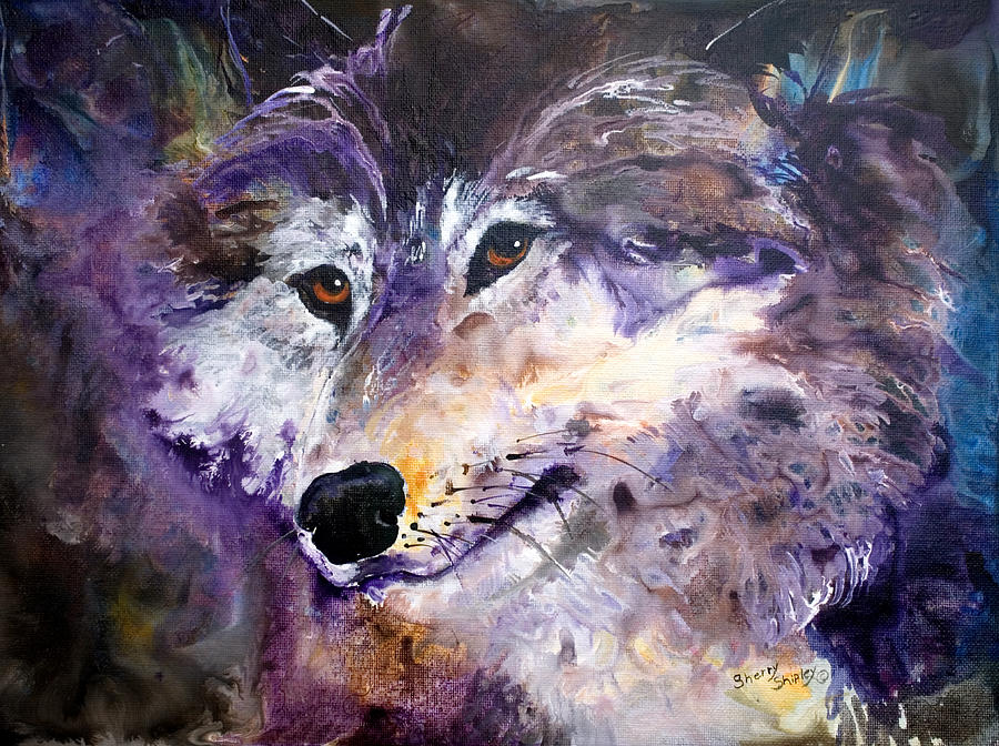 Wolf Painting - Spirit Wolf by Sherry Shipley