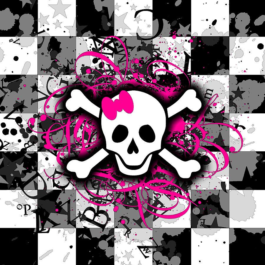 Girly Skull Digital Ar...
