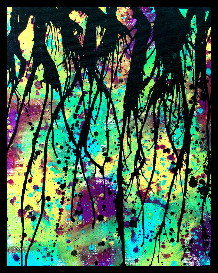 Splatter Roots 03 Painting