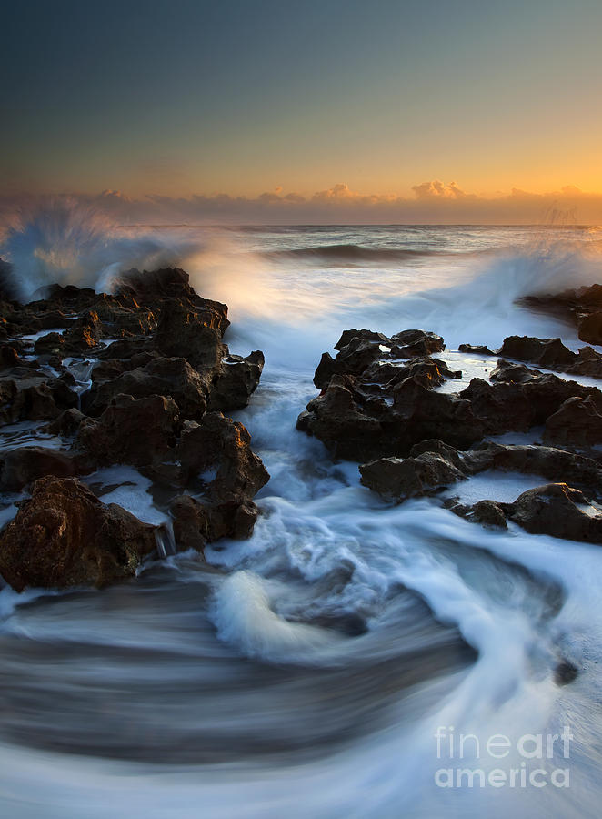Coral Cove Photograph - Splitting The Reef by Mike  Dawson