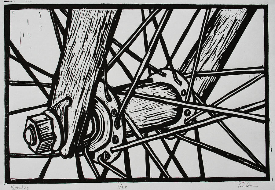 Spokes Drawing  - Spokes Fine Art Print