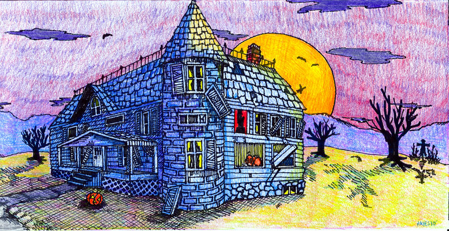 Spooky House Drawing