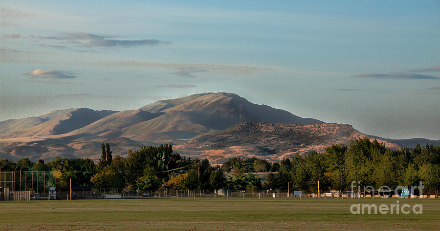 Sport Complex And The Butte Photograph