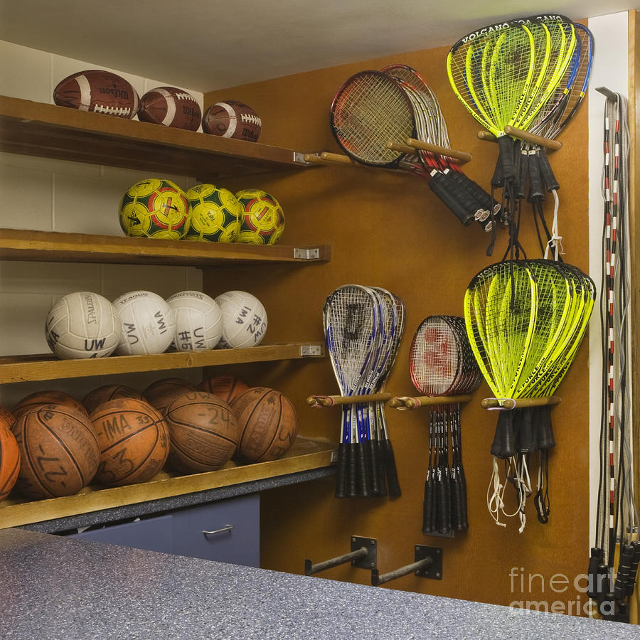 Sports Equipment Display Photograph  - Sports Equipment Display Fine Art Print