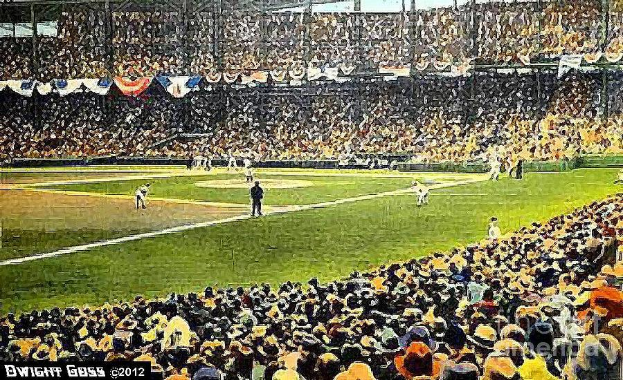 Sportsmans Park In St. Louis Mo 1943 Painting  - Sportsmans Park In St. Louis Mo 1943 Fine Art Print