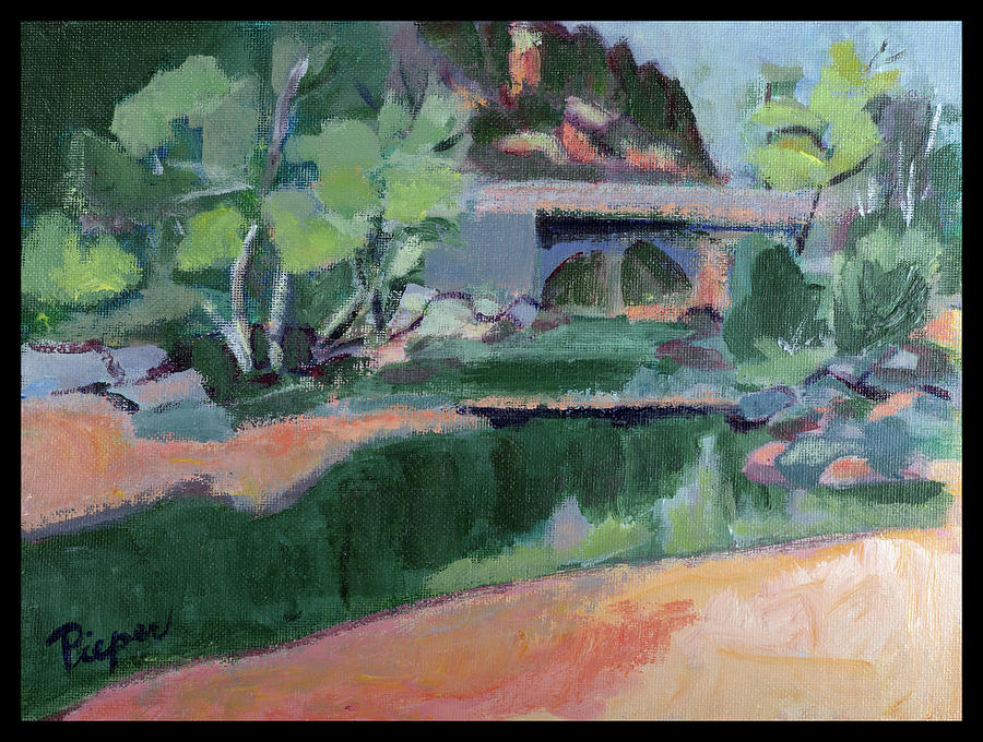 Spring At Slide Rock Park Painting