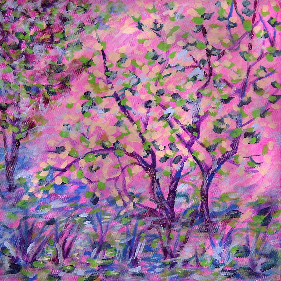 Spring blossom tree by laura heggestad for Spring canvas paintings
