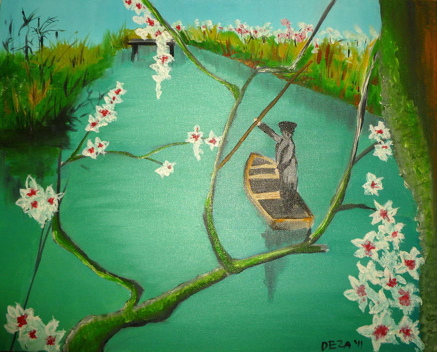 Spring Fishing Painting  - Spring Fishing Fine Art Print