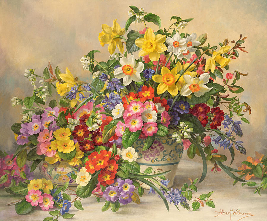 spring flowers and poole pottery by albert williams