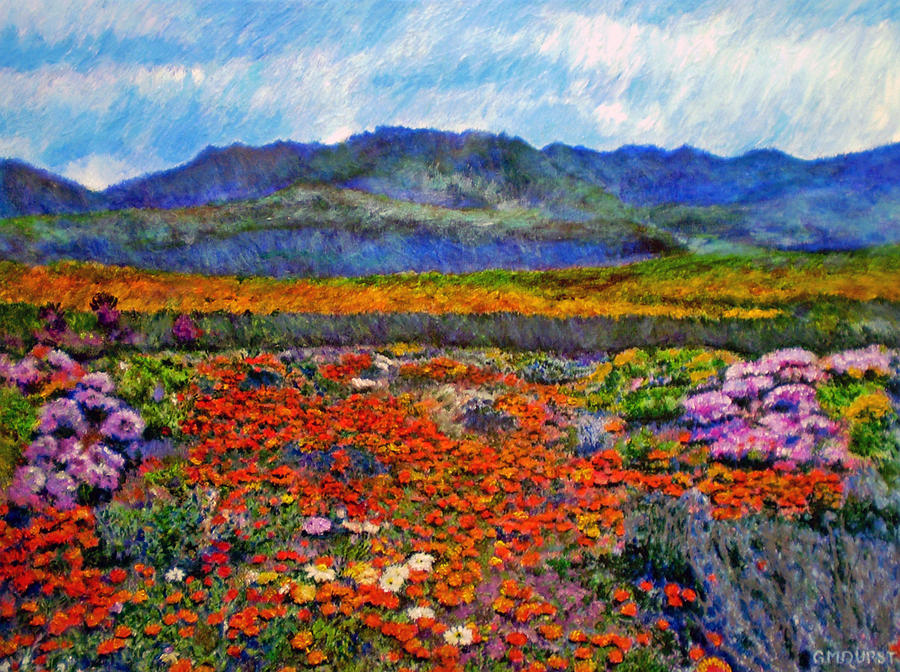 Spring In Namaqualand Painting  - Spring In Namaqualand Fine Art Print