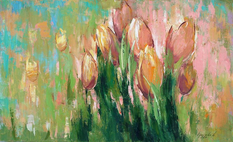 Spring In Unison Painting  - Spring In Unison Fine Art Print