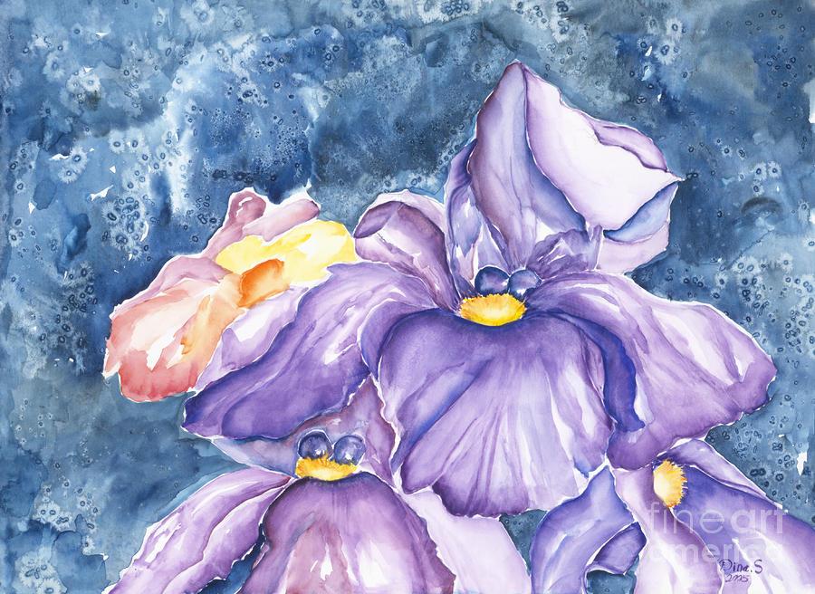 Spring Iris Painting
