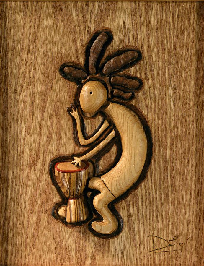 Kokopelli Relief - Spring Jam B by David Taylor