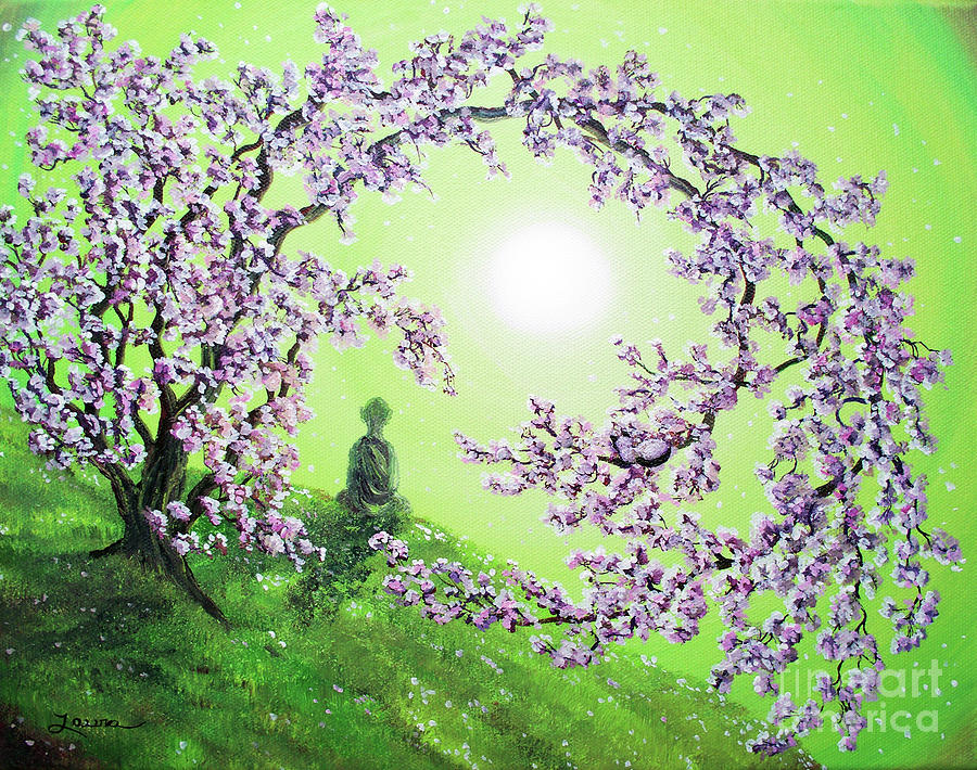 Spring Morning Meditation Painting  - Spring Morning Meditation Fine Art Print
