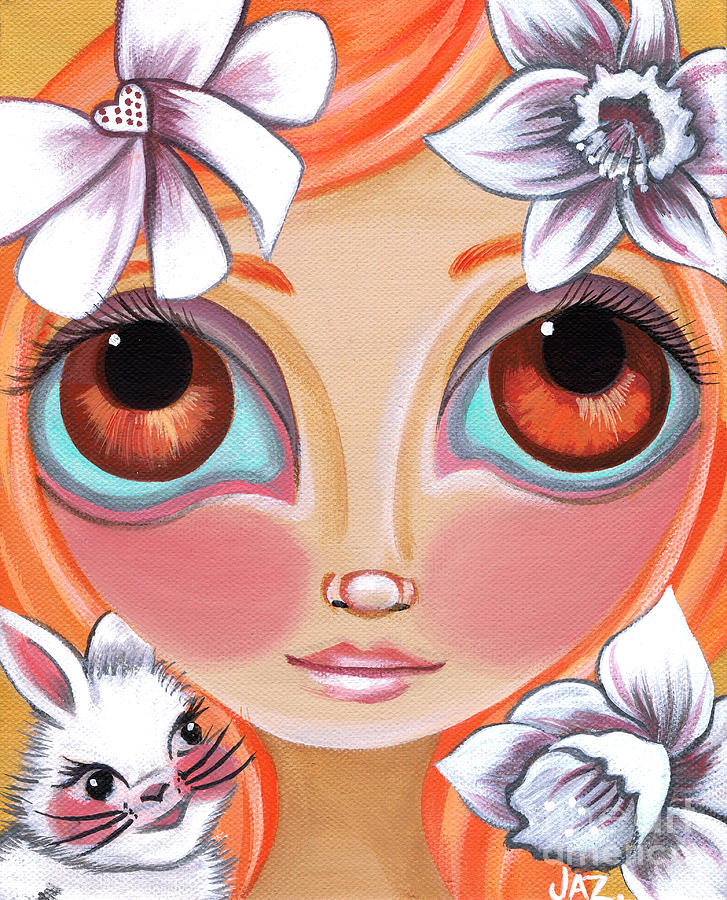 Spring Princess Painting  - Spring Princess Fine Art Print