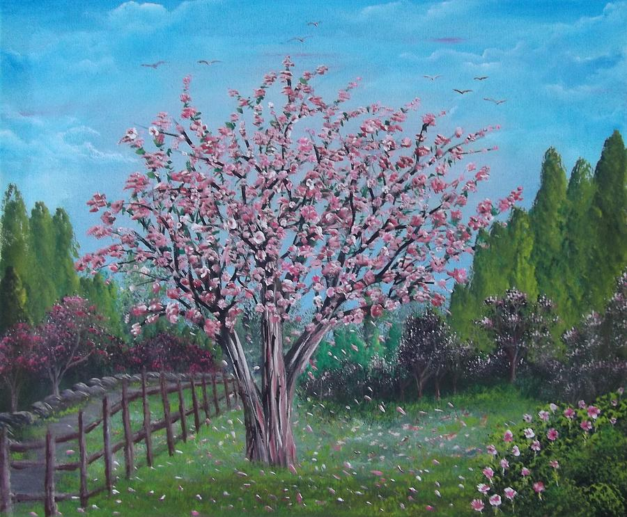 Spring trees painting