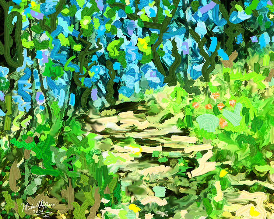 Spring Wood Path  Painting  - Spring Wood Path  Fine Art Print