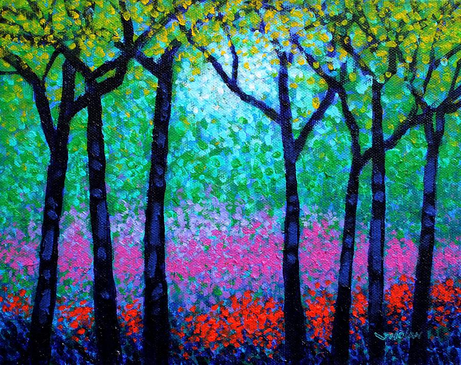 Spring Woodland Painting