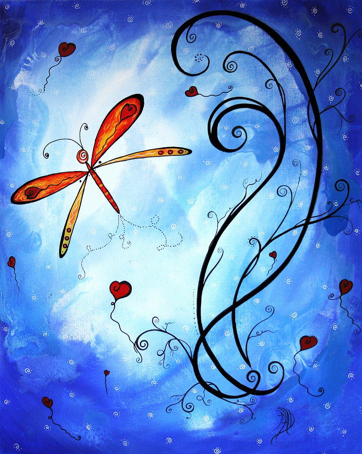 Springs Sweet Song Original Madart Painting Painting  - Springs Sweet Song Original Madart Painting Fine Art Print