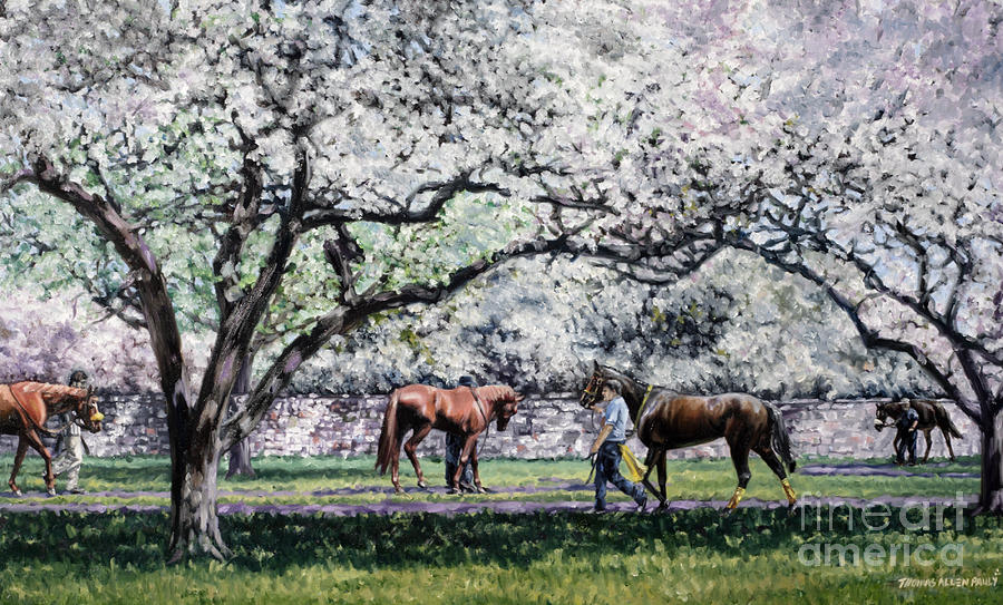Springtime At Keeneland Painting  - Springtime At Keeneland Fine Art Print