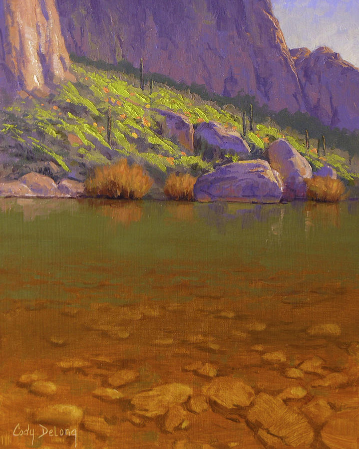 Springtime On The Salt River Painting  - Springtime On The Salt River Fine Art Print