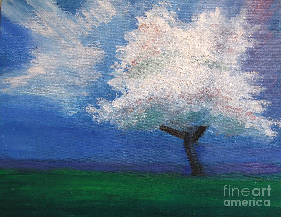Springtime Tree Painting  - Springtime Tree Fine Art Print