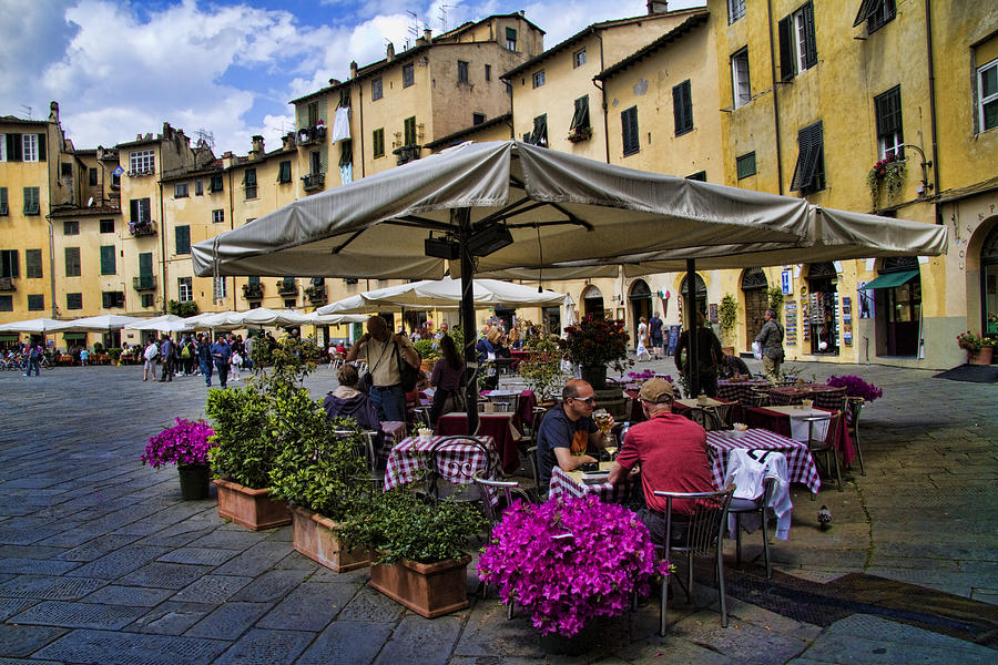 Square Amphitheater In Lucca Italy Photograph