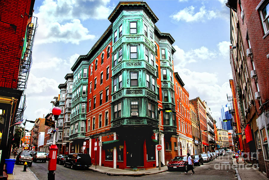 Square In Old Boston Photograph