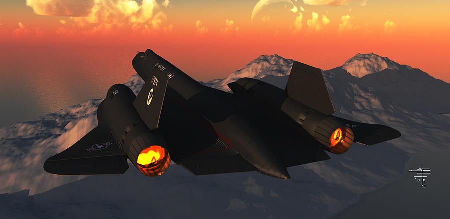 Sr-71 Blackbird Digital Art