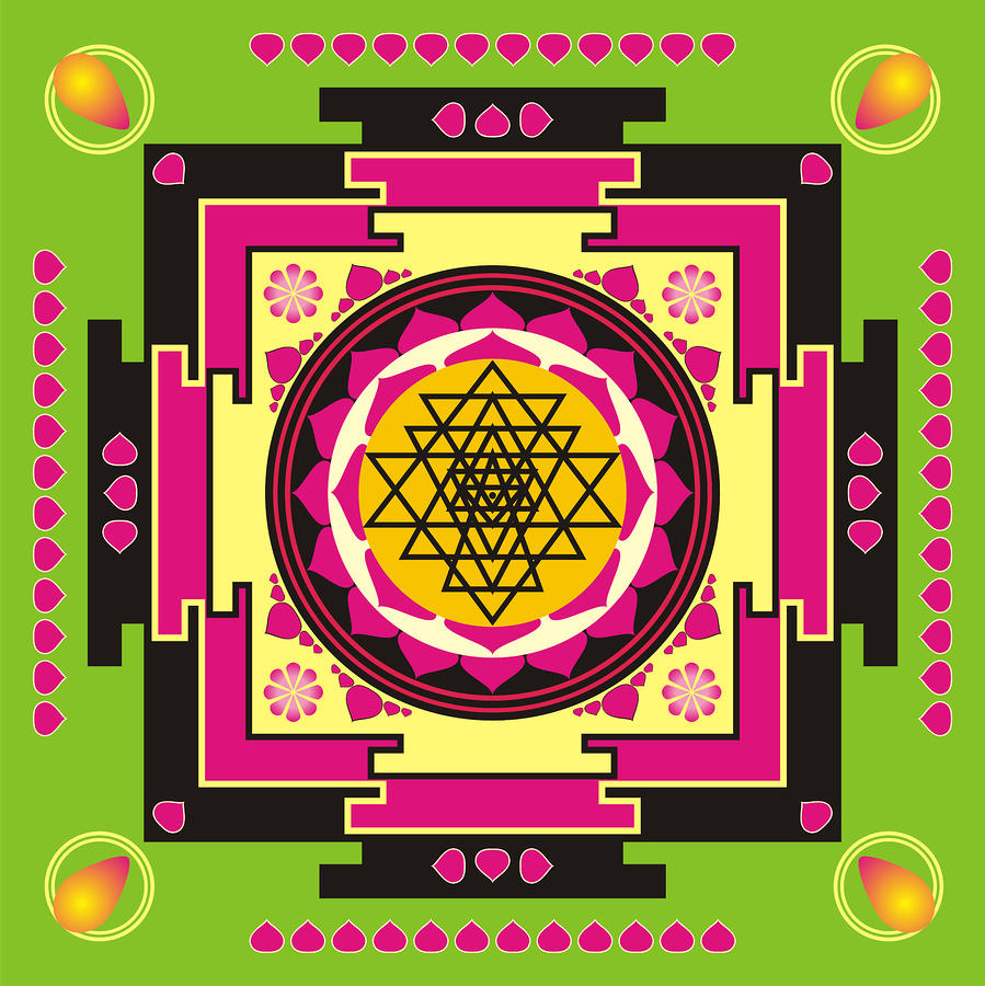 Sri Yantra Mandala Digital Art