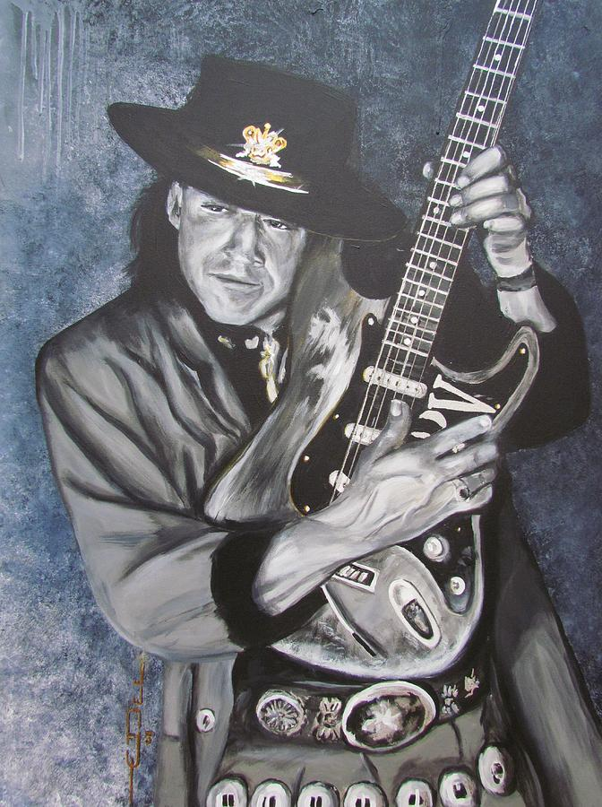 Srv - Stevie Ray Vaughan  Painting  - Srv - Stevie Ray Vaughan  Fine Art Print