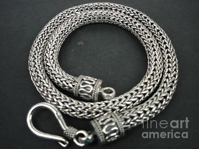Ss Foxtail Chain Necklace 8mm With Hook Jewelry