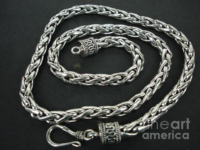 Ss Wheat Chain  Necklace 6mm With Hook Jewelry