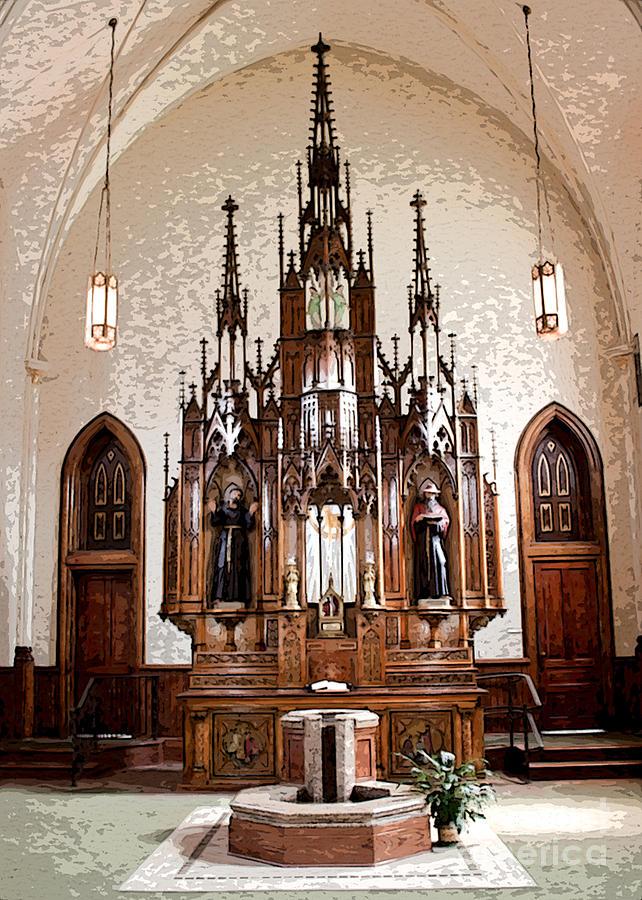 St Bonaventure Monastery Alter Photograph by Anne Raczkowski