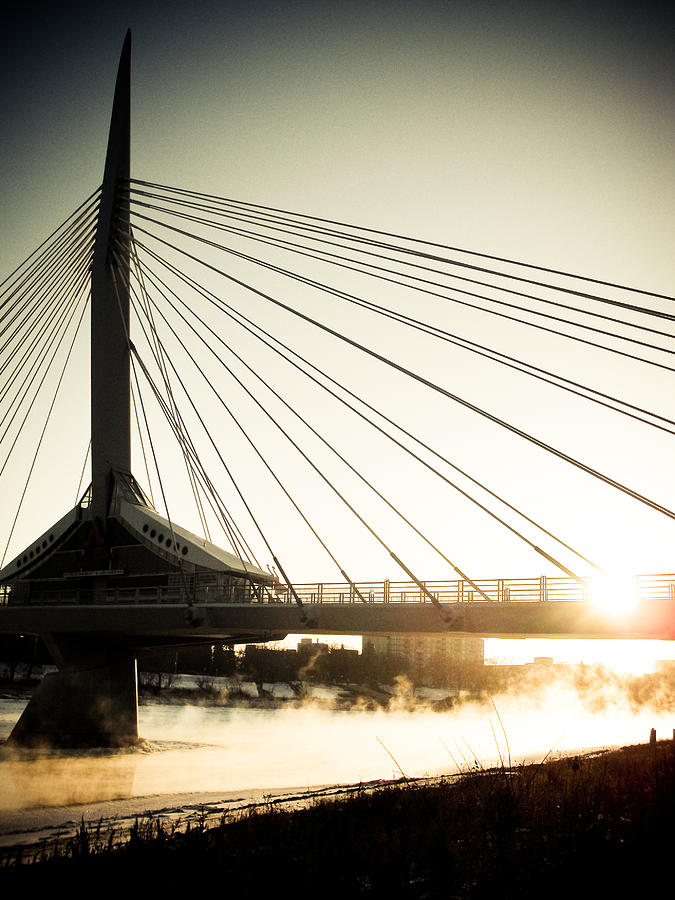 St. Boniface Bridge At Winter Sunrise Photograph