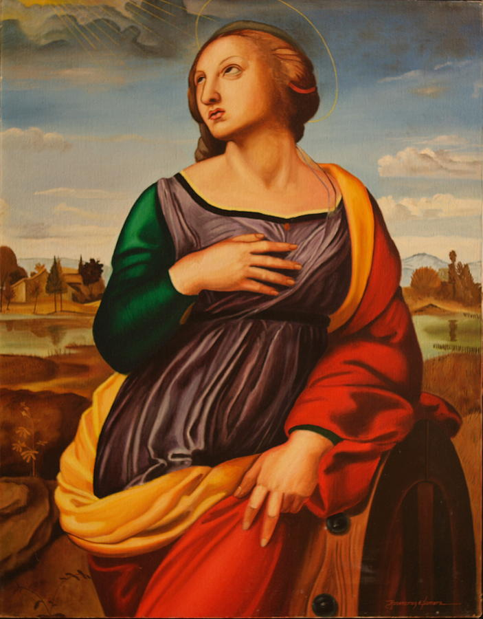 St Catherine Of Alexandria-after Raphael Painting