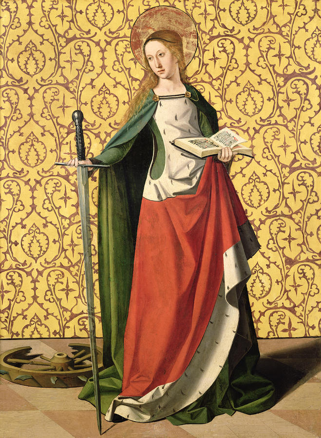 St. Catherine Of Alexandria Painting  - St. Catherine Of Alexandria Fine Art Print