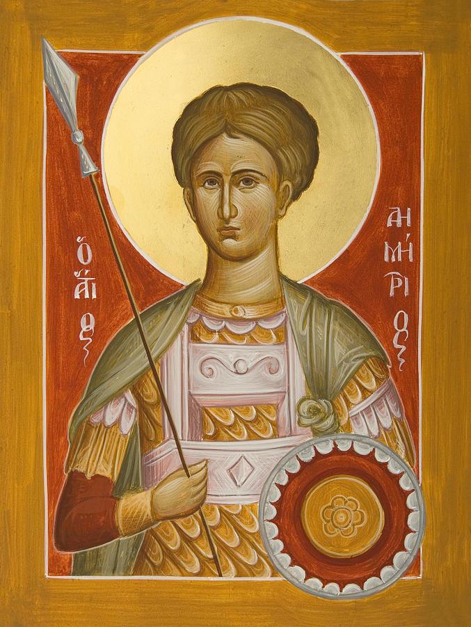 St Demetrios The Myrrhstreamer Painting