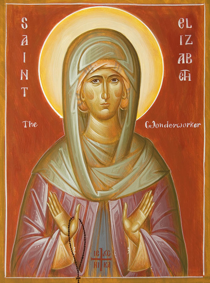 St Elizabeth The Wonderworker Painting  - St Elizabeth The Wonderworker Fine Art Print
