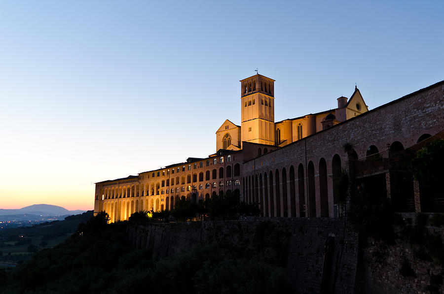 St Francis Assisi At Sundown Photograph