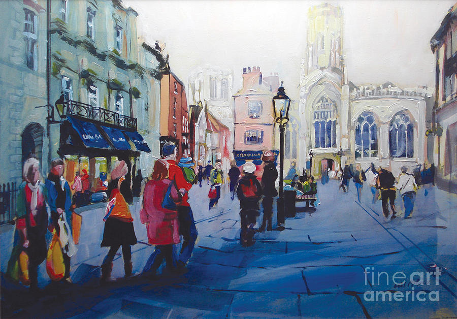 St Helen Square York Painting  - St Helen Square York Fine Art Print