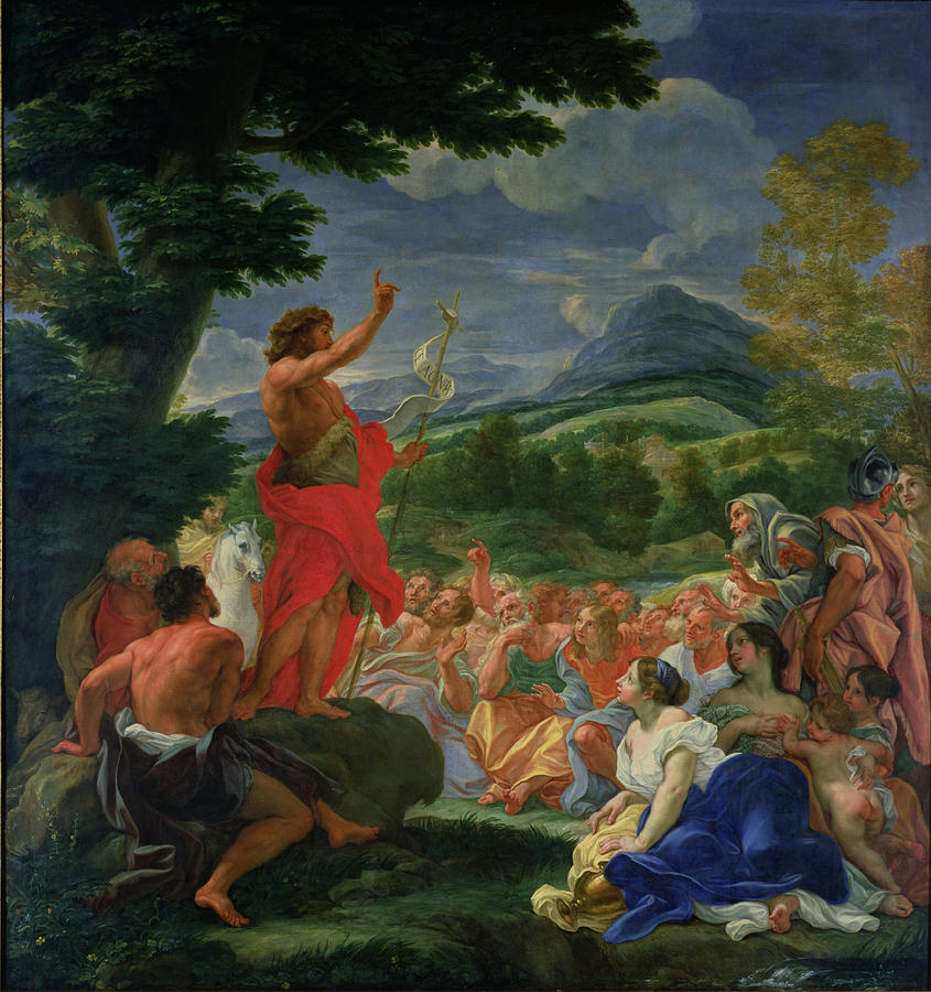 St John The Baptist Preaching Painting