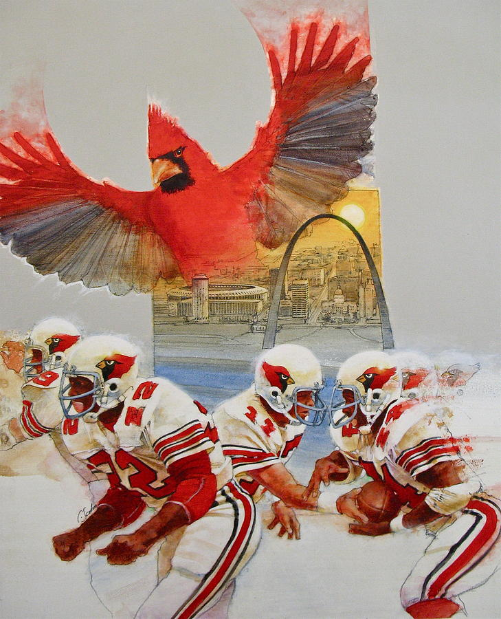 St Louis Cardinals1980 Game Day Cover And Media Guide Cover Painting