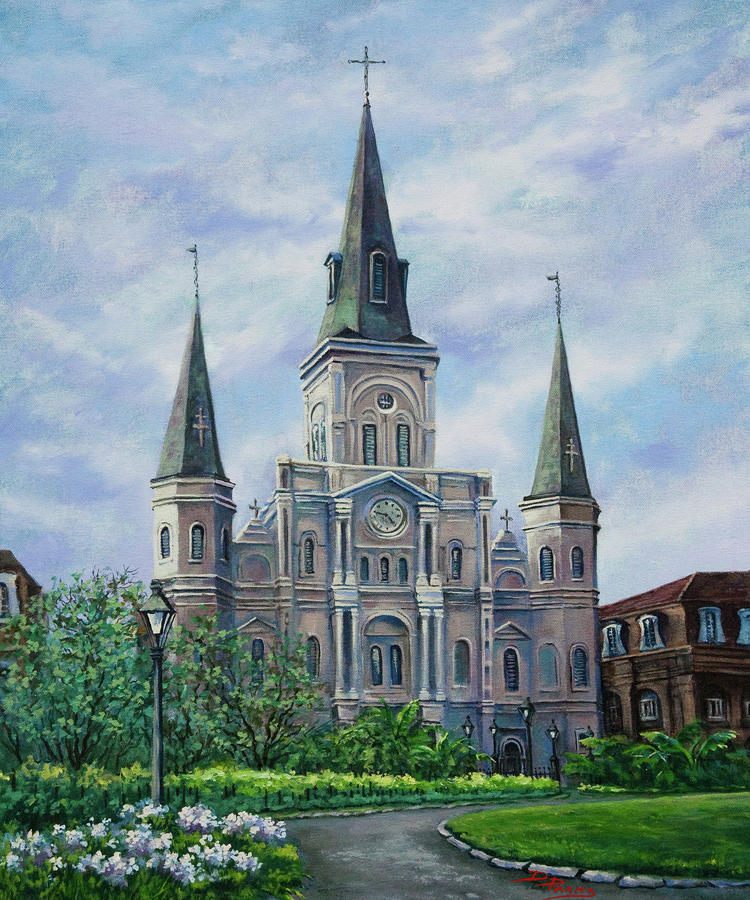 St. Louis Cathedral Painting  - St. Louis Cathedral Fine Art Print