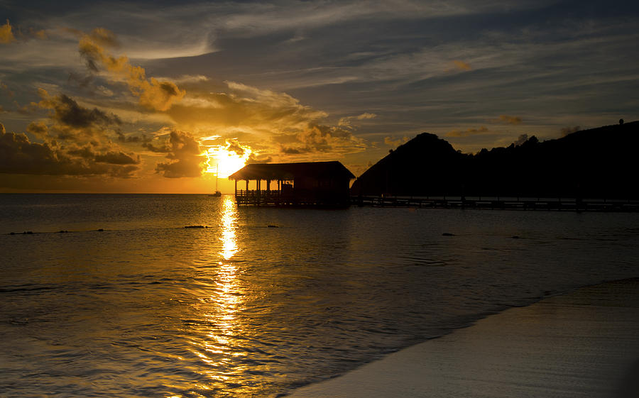 St Lucia At Sunset Photograph  - St Lucia At Sunset Fine Art Print