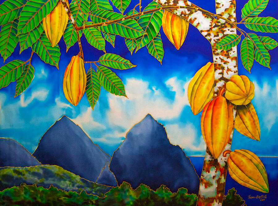 St. Lucia Cocoa Tapestry - Textile