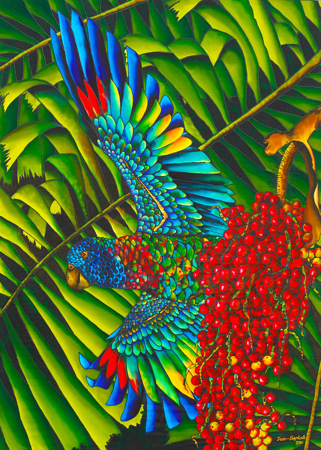 St. Lucias Bird Of Paradise Painting