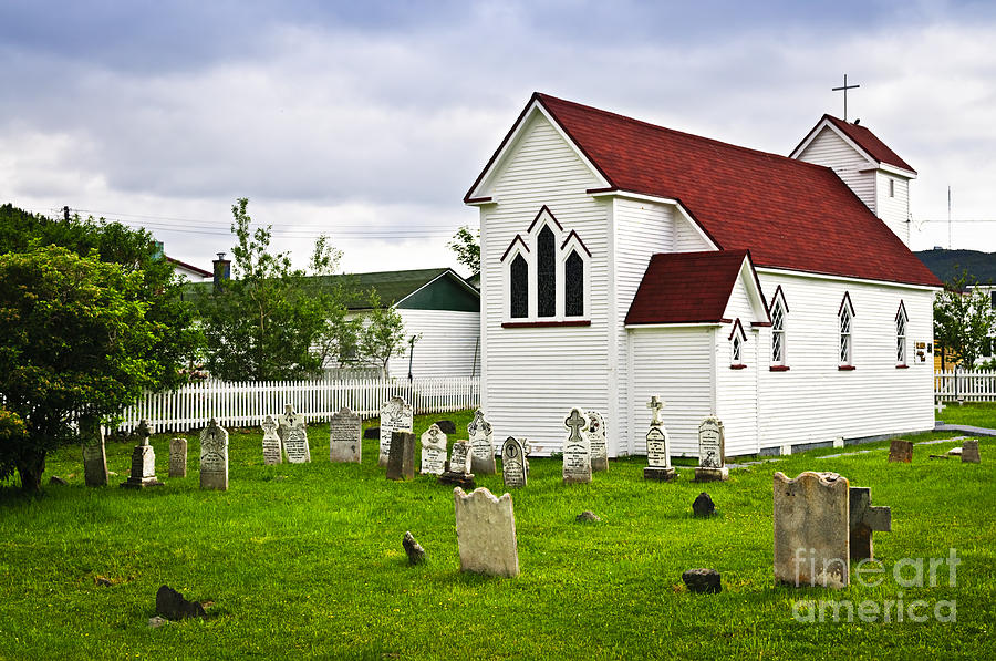 St. Lukes Church In Placentia Newfoundland Photograph  - St. Lukes Church In Placentia Newfoundland Fine Art Print