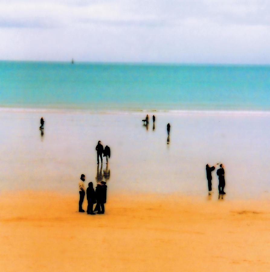 Saint Malo Photograph - St Malo Beach by Nigel Chaloner